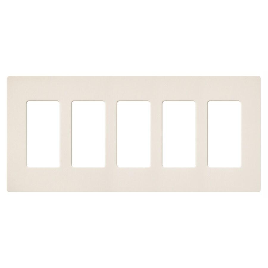 Lutron Claro 5-Gang Eggshell Five Decorator Wall Plate