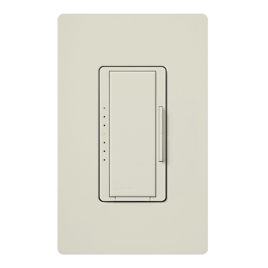 Lutron Maestro 450-Watt Single Pole Light Almond Indoor Touch Dimmer