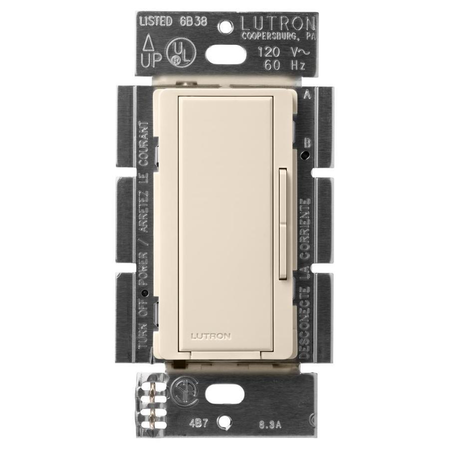 Lutron Maestro 1,000-Watt 3-Way 4-Way Light Almond Indoor Tap Dimmer
