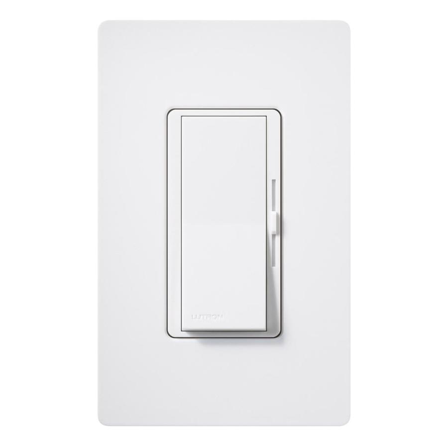 Lutron Diva 600-Watt Single Pole Snow Indoor Slide Dimmer