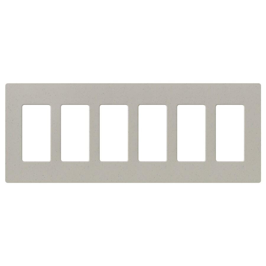 Lutron Claro 6-Gang Stone Six Decorator Wall Plate
