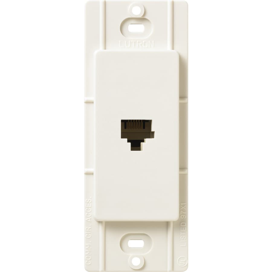 Lutron Claro Satin Color 1-Gang Biscuit Phone Wall Plate