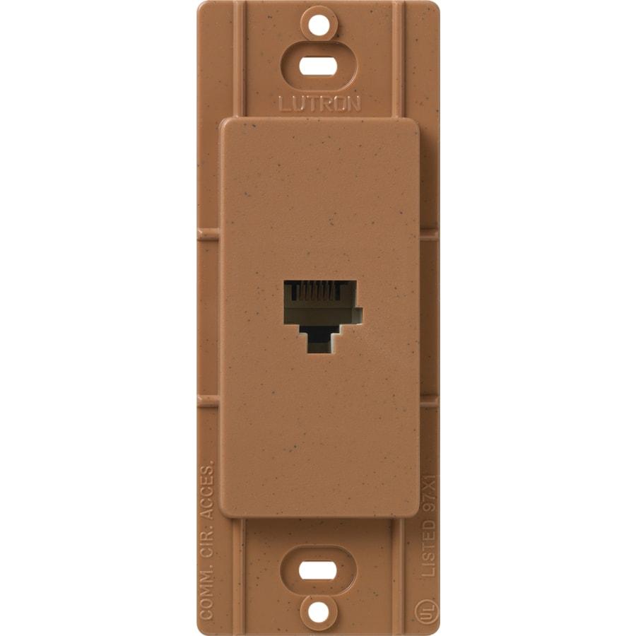 Lutron Claro Satin Color 1-Gang Terra Cotta Phone Wall Plate