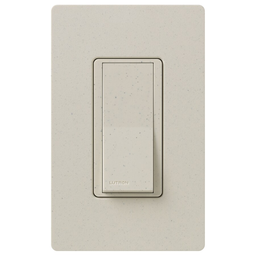 Lutron Claro 15-Amp 3-Way Double Pole Limestone Indoor Push Light Switch