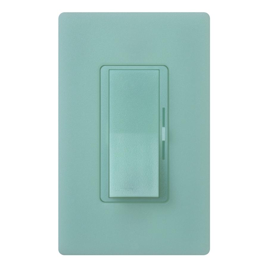 Lutron Diva 300-Watt Single Pole Sea Glass Indoor Slide Dimmer