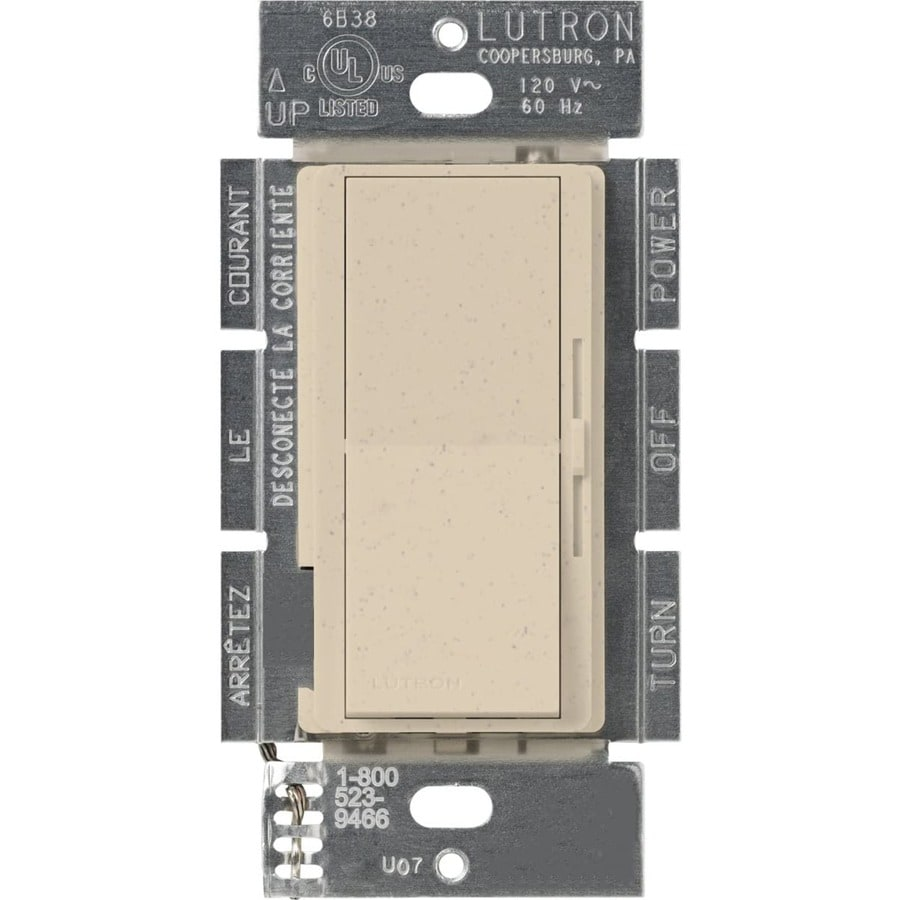 Lutron Diva 450-Watt 3-Way Single Pole Stone Indoor Slide Dimmer
