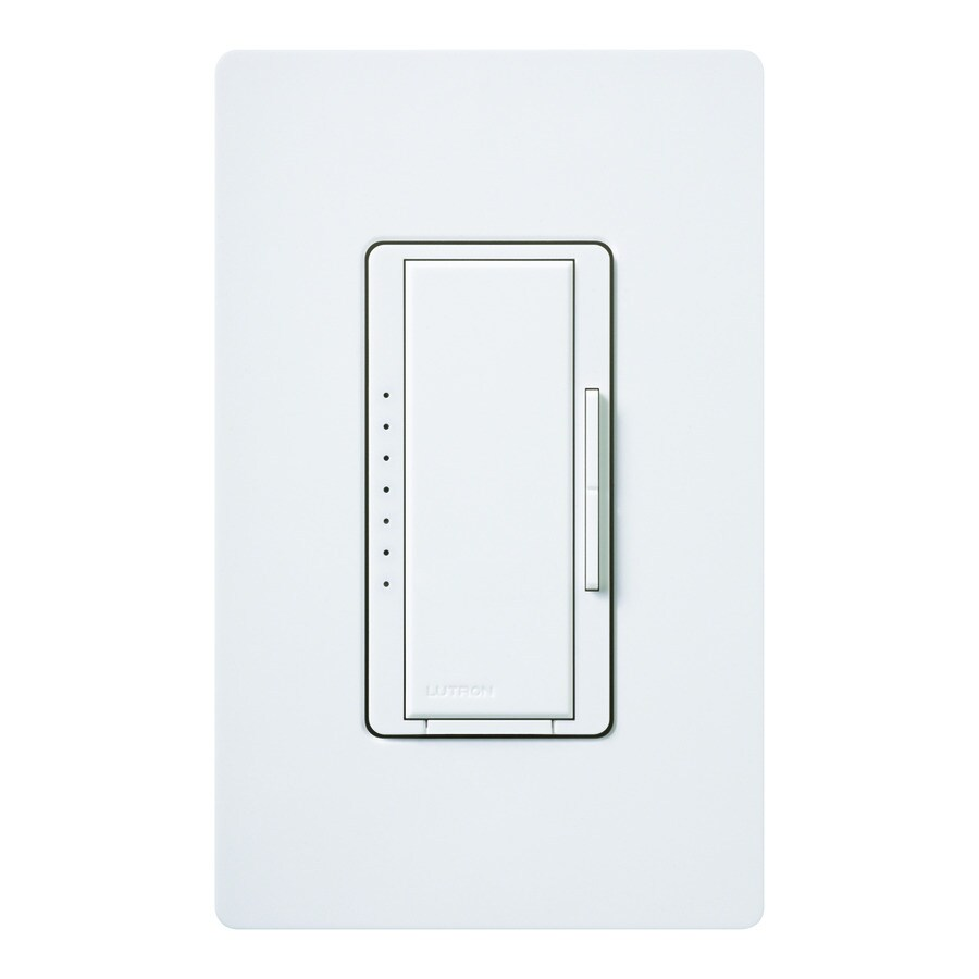 Lutron Diva 600-Watt Single Pole White Indoor Touch Dimmer