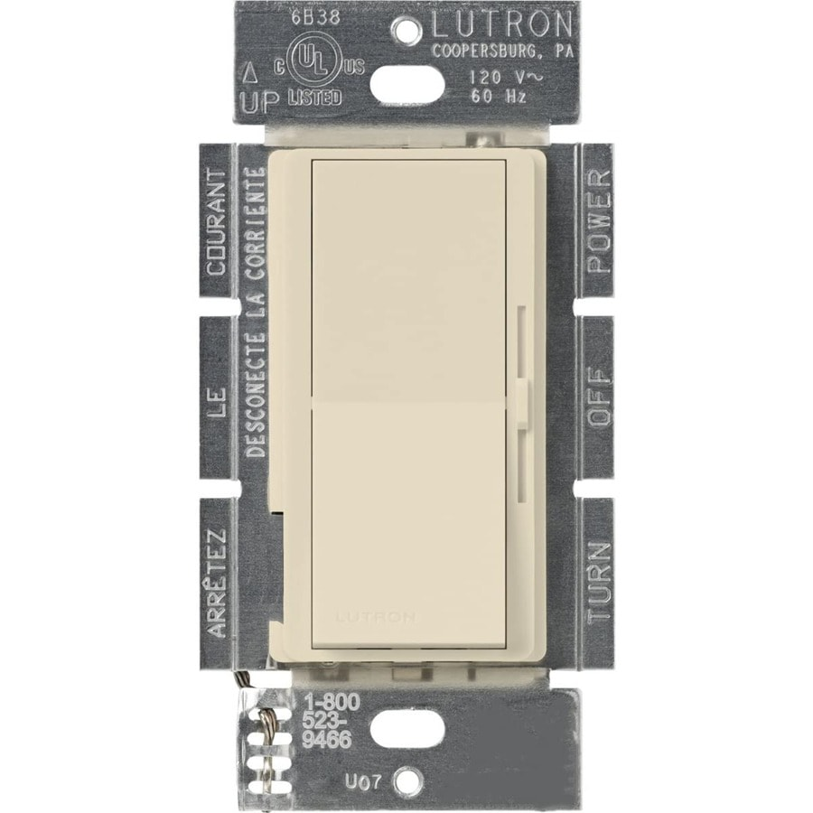 Lutron Diva 300-Watt 3-Way Single Pole Eggshell Indoor Slide Dimmer