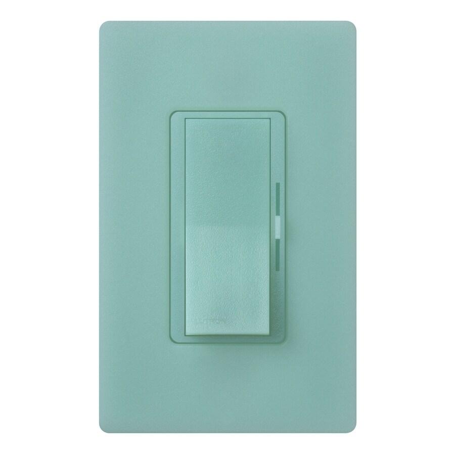 Lutron Diva 1,000-Watt Single Pole Sea Glass Indoor Slide Dimmer