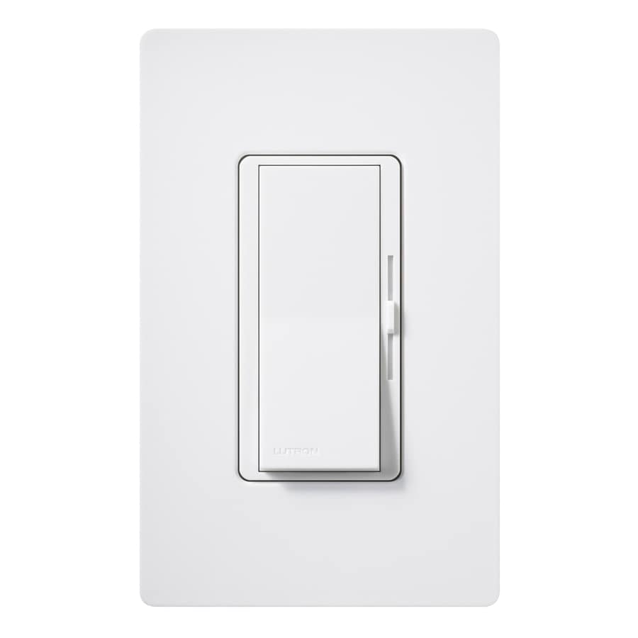 Lutron Diva 1,000-Watt Single Pole Snow Indoor Slide Dimmer
