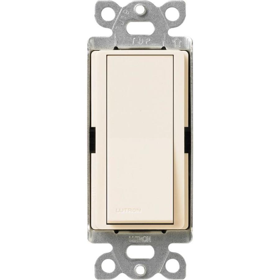 Lutron Claro 15-Amp Single Pole Eggshell Indoor Push Light Switch