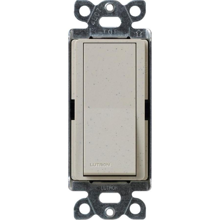 Lutron Claro 15-Amp Single Pole Stone Indoor Push Light Switch