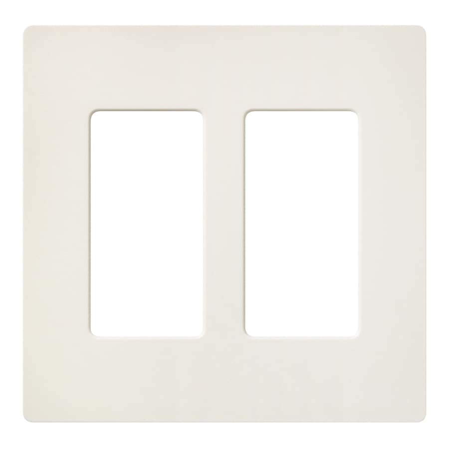Lutron 2-Gang Biscuit Decorator Rocker Plastic Wall Plate