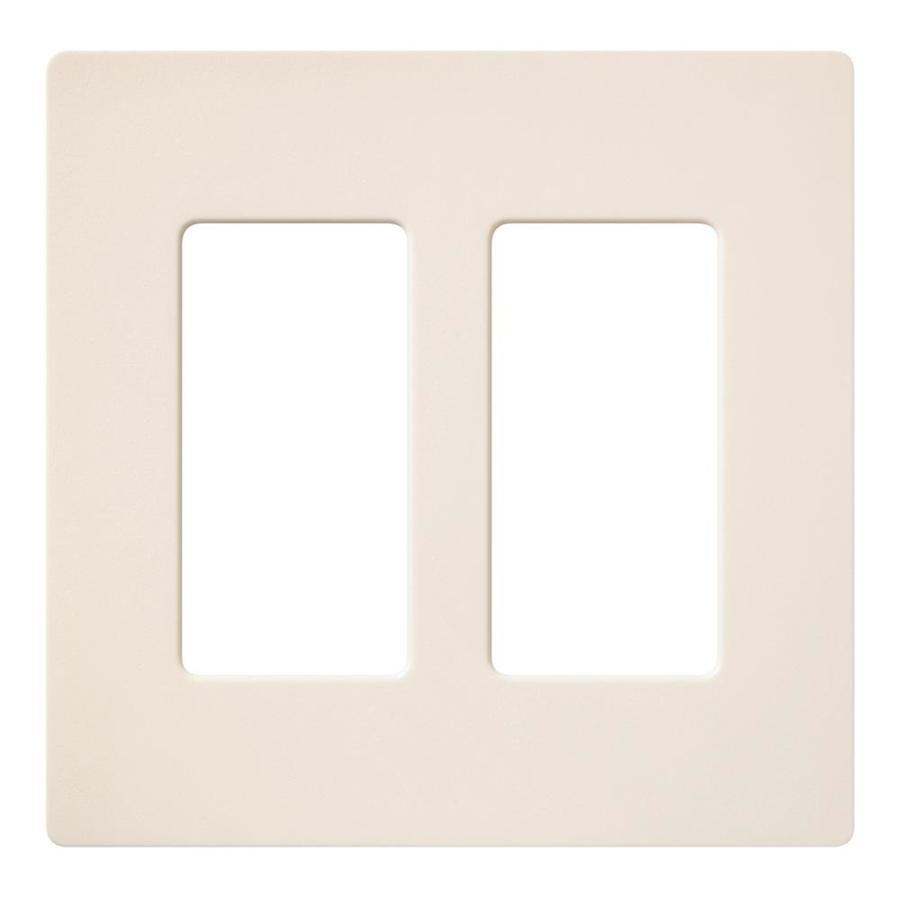 Lutron Claro 2-Gang Eggshell Double Decorator Wall Plate