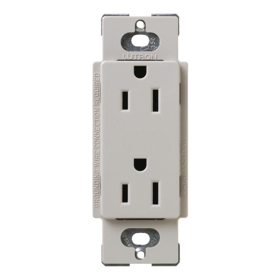 Lutron Claro 15-Amp 120/125-Volt Taupe Indoor Decorator Wall Outlet