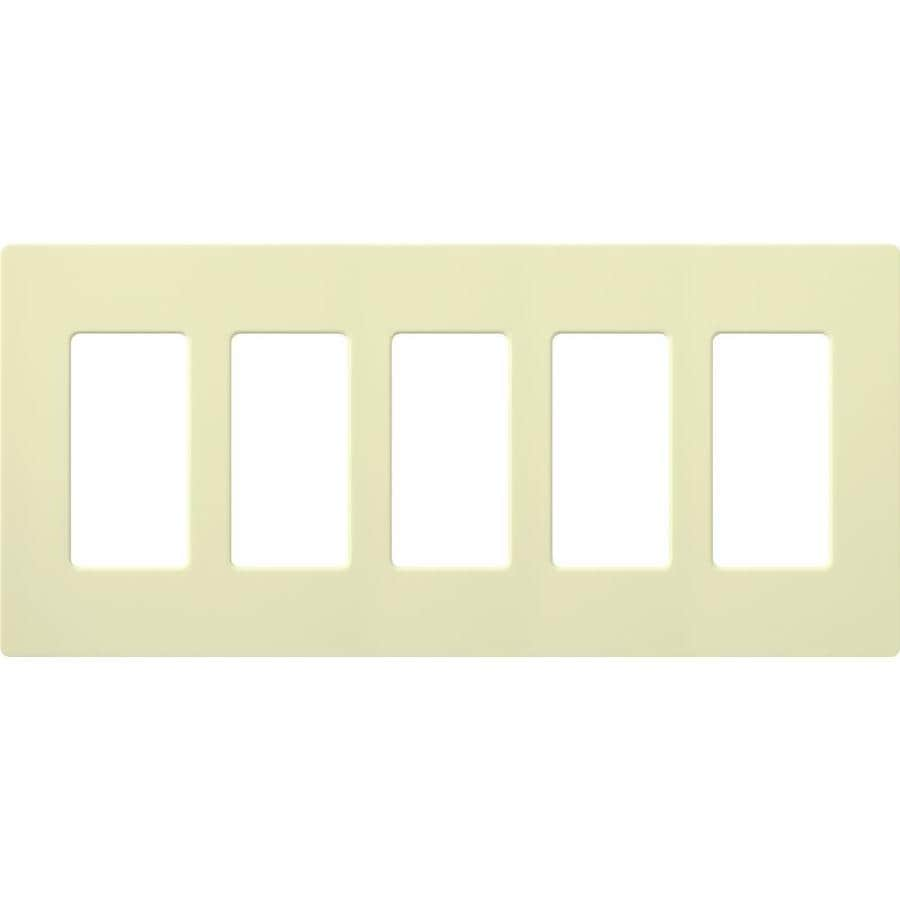 Lutron Claro 5-Gang Almond Five Decorator Wall Plate