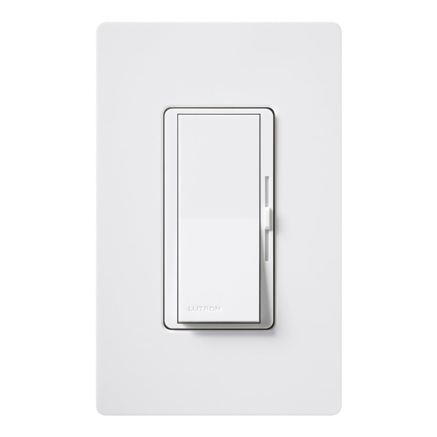 Lutron Diva 600-Watt Single Pole White Indoor Slide Dimmer