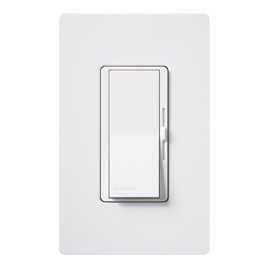 Lutron Diva 1-Switch 600-Watt Single Pole White Indoor Slide Dimmer