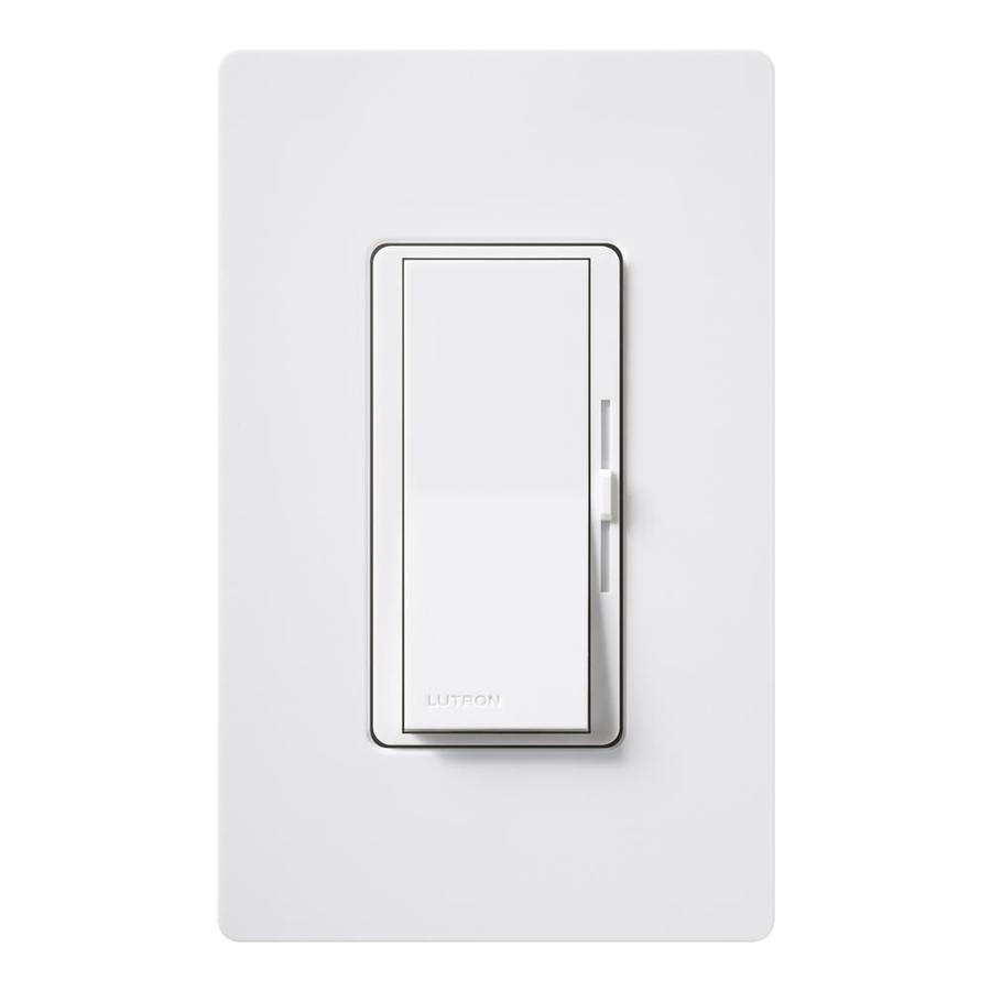 Lutron Diva 600-Watt 3-Way Single Pole White Indoor Slide Dimmer