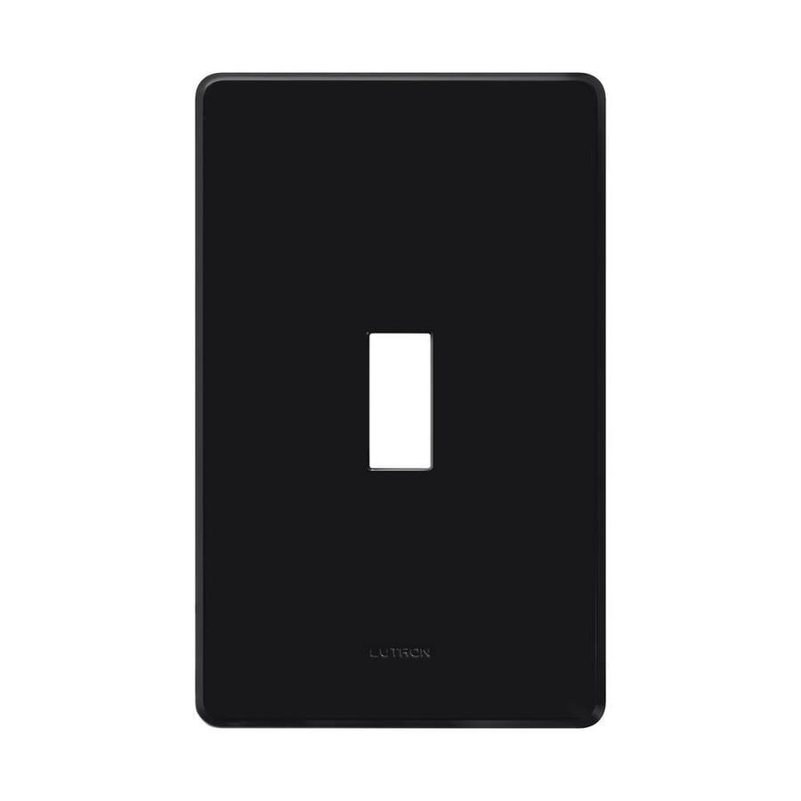 Lutron Fassada 1-Gang Black Single Toggle Wall Plate