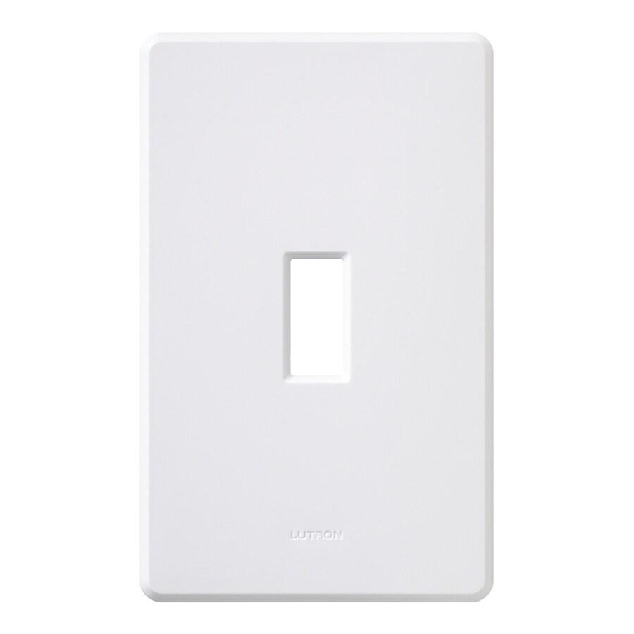 Lutron Fassada 1-Gang White Single Toggle Wall Plate