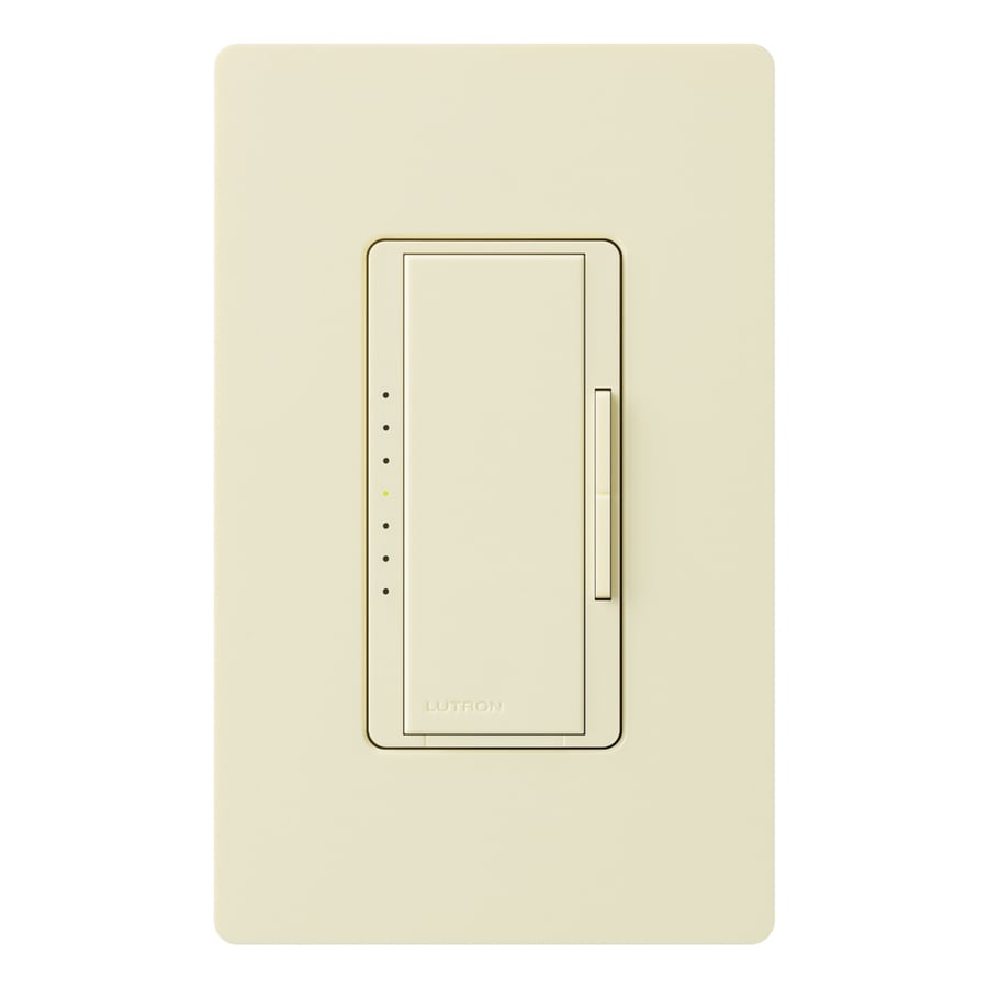 Lutron Maestro Eco-Dim 600-Watt Single Pole Almond Indoor Touch Dimmer