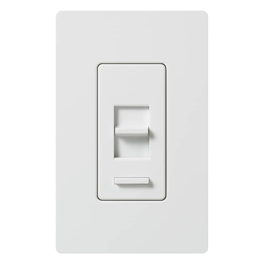 Lutron Lumea Eco-Dim 600-Watt 3-Way Single Pole White Indoor Slide Dimmer