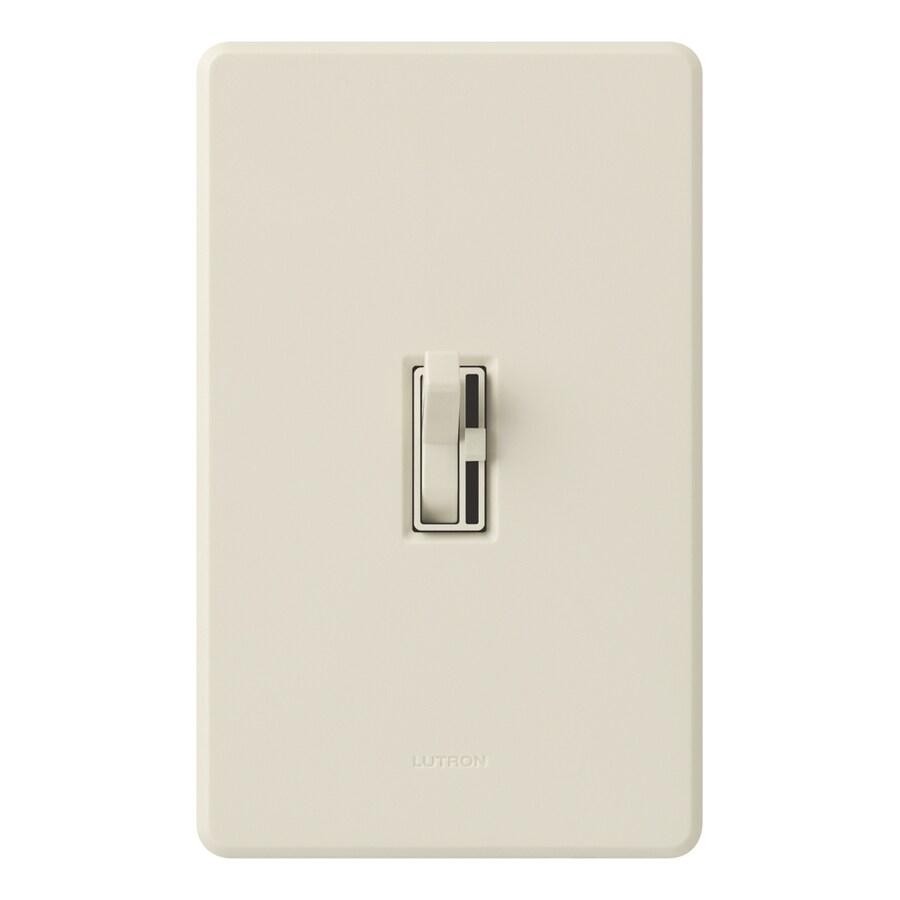Lutron Ariadni/Toggler Eco-Dim 600-Watt 3-Way Double Pole Light Almond Indoor Toggle Dimmer