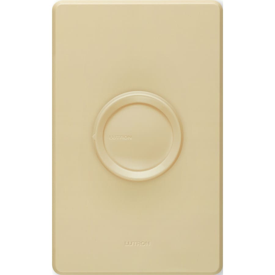 shop lutron rotary 600 watt single pole ivory indoor rotary dimmer at. Black Bedroom Furniture Sets. Home Design Ideas