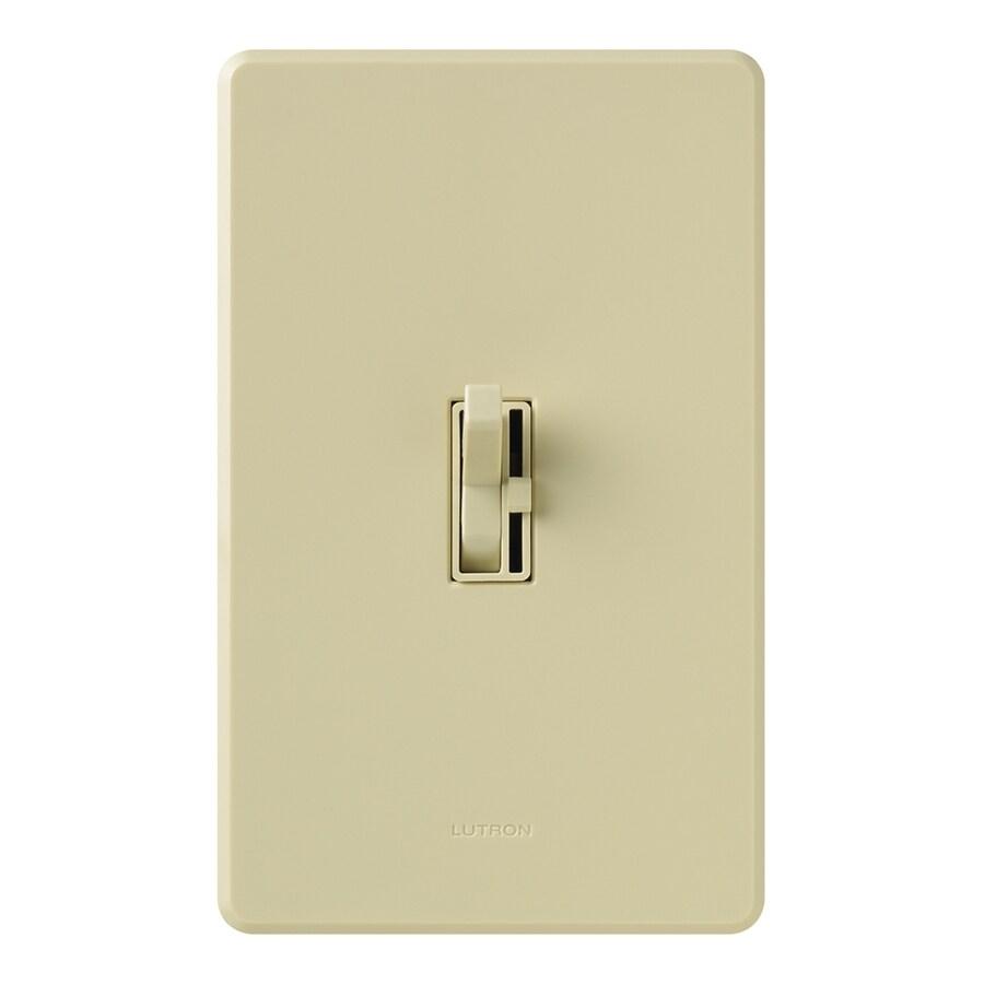 shop lutron ariadni toggler 3 way ivory slide dimmer at. Black Bedroom Furniture Sets. Home Design Ideas