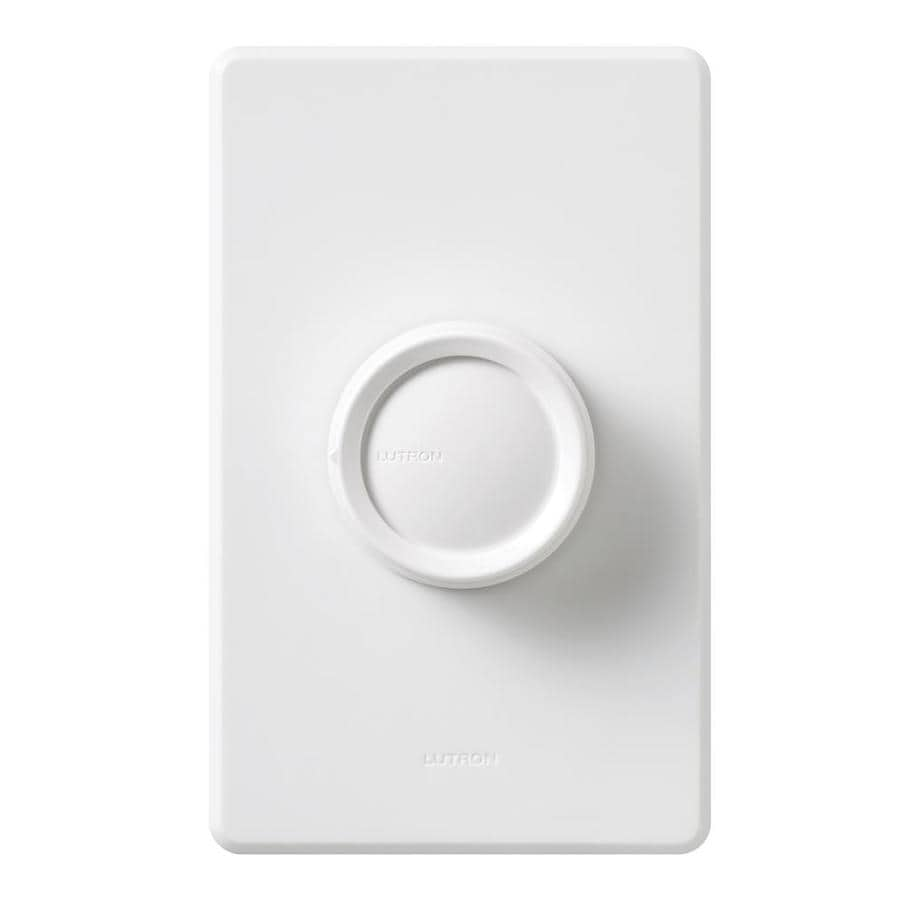 Lutron Rotary Fully Variable 5-Amp White Indoor Rotary Fan Control