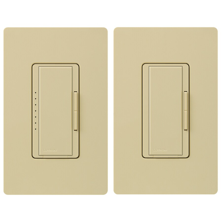 Lutron Maestro 5-Amp 600-Watt Ivory 3-Way Digital Dimmer with Remote