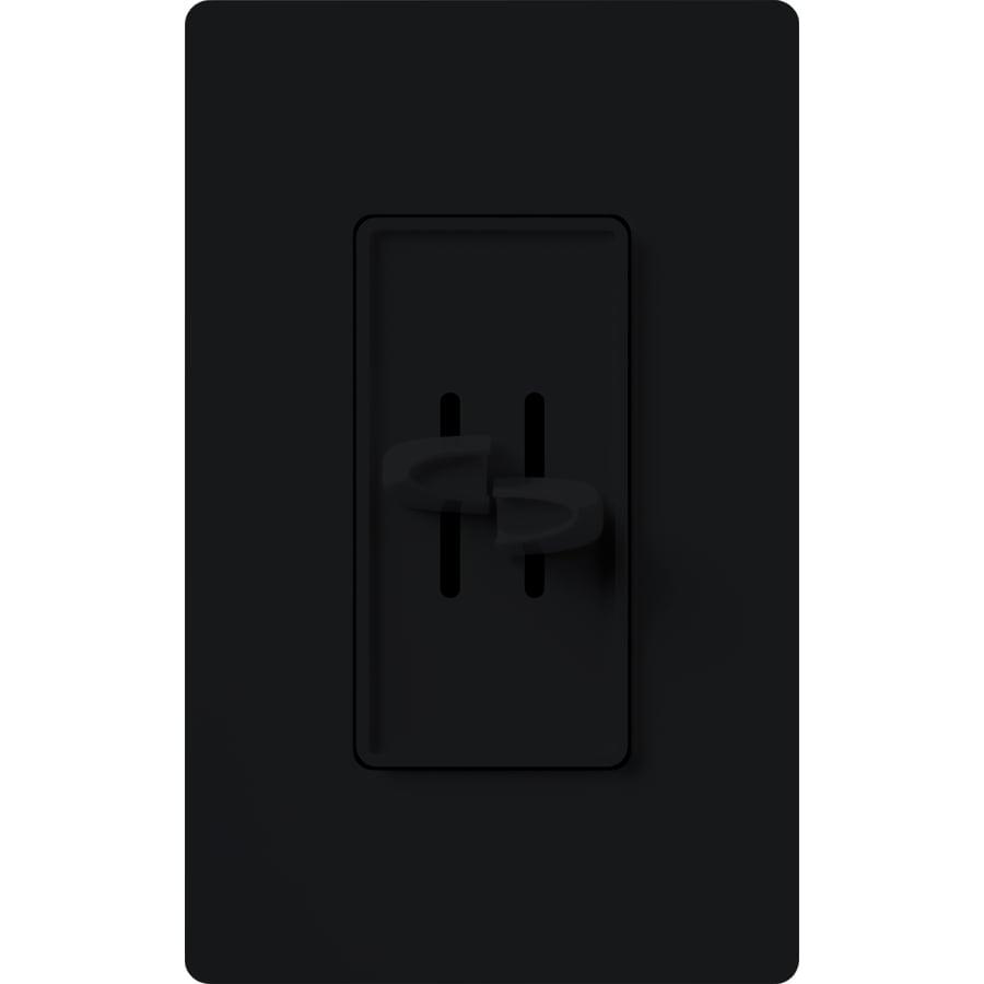 Lutron Skylark 300-Watt Single Pole Black Indoor Slide Dimmer