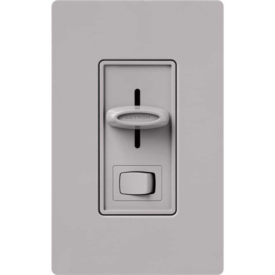 Lutron Skylark 300-Watt Single Pole Gray Indoor Slide Dimmer