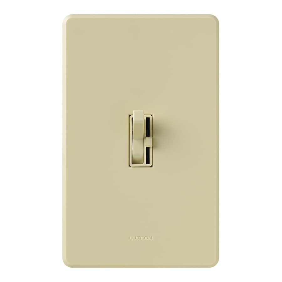 Lutron Toggler 600-Watt 3-Way Double Pole Ivory Indoor Toggle Dimmer