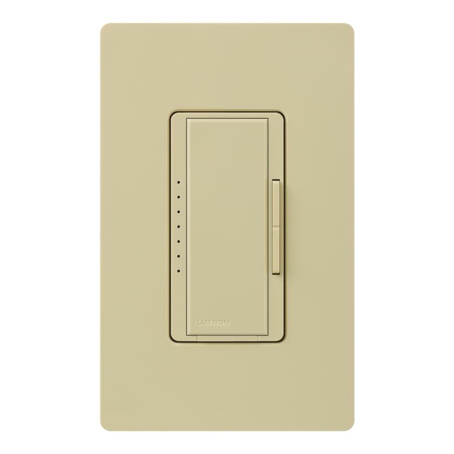 Lutron Maestro 800-Watt 3-Way 4-Way Double Pole Ivory Indoor Tap Dimmer