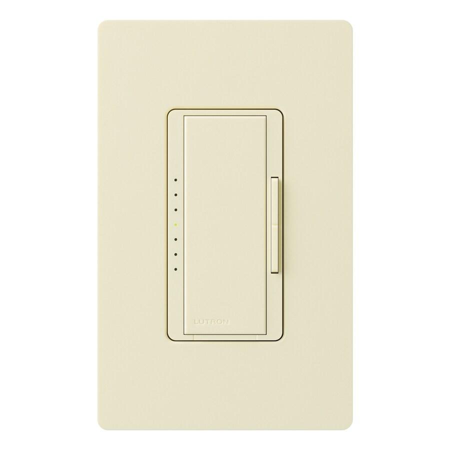 Lutron Maestro 800-Watt 3-Way 4-Way Double Pole Almond Indoor Tap Dimmer