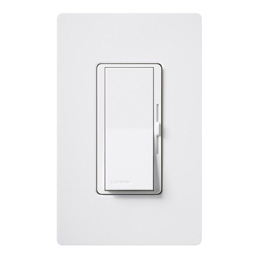 Lutron Diva 1,000-Watt 3-Way Double Pole White Indoor Slide Dimmer