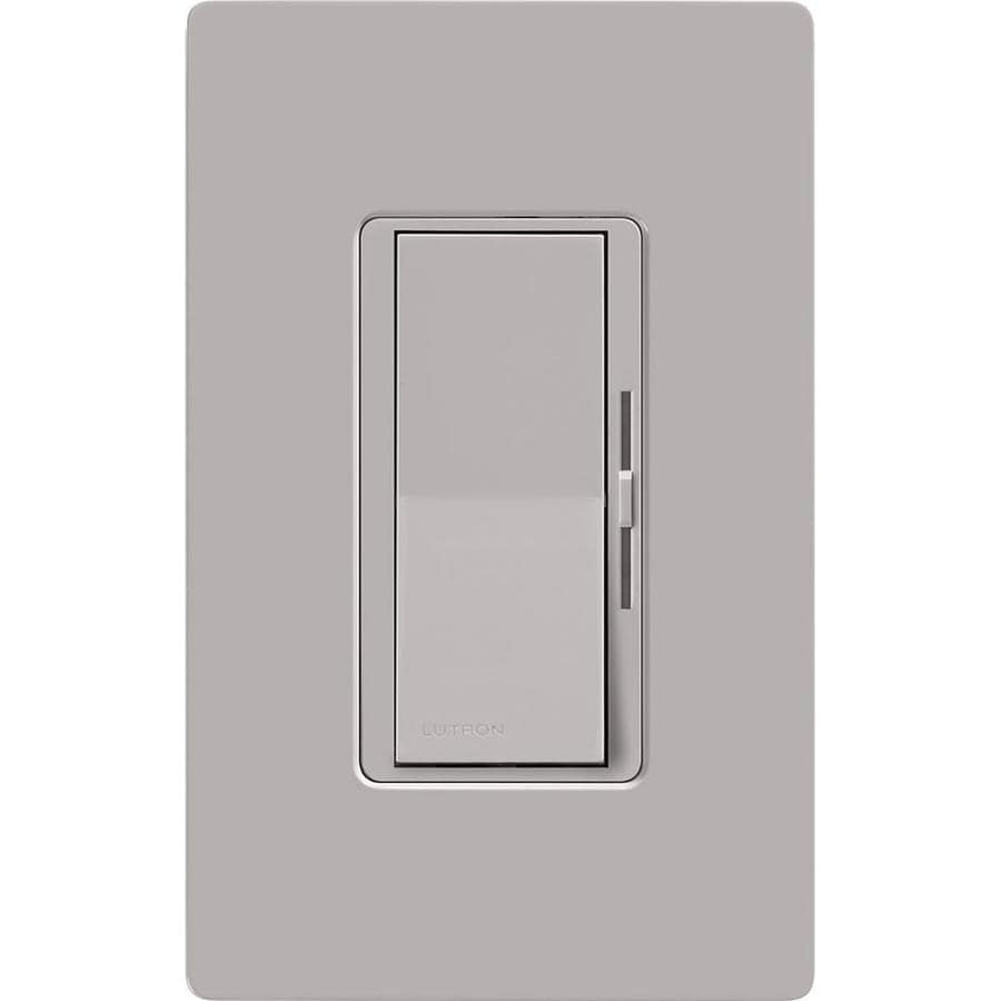 Lutron Diva 1,000-Watt 3-Way Double Pole Gray Indoor Slide Dimmer