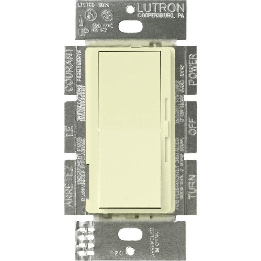 Lutron Diva 450-Watt 3-Way Double Pole Almond Indoor Slide Dimmer