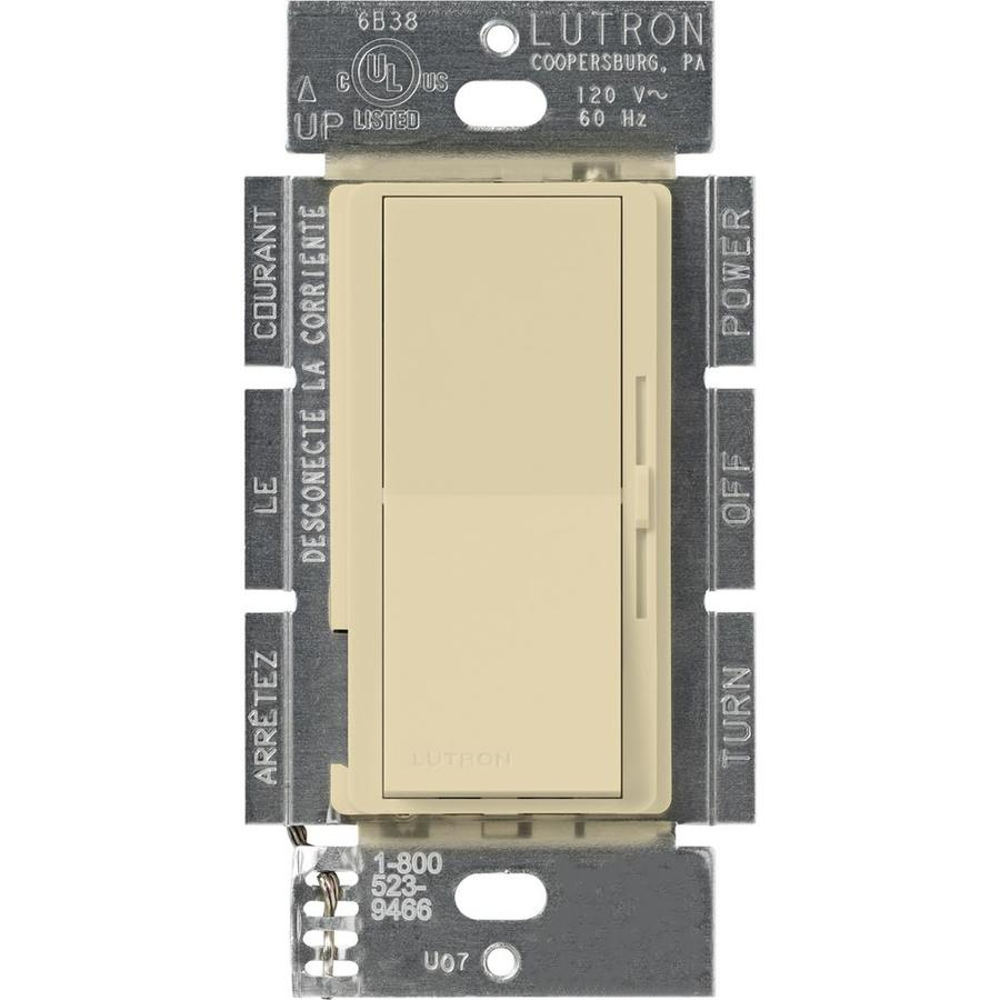 Lutron Diva 450-Watt Single Pole Ivory Indoor Slide Dimmer