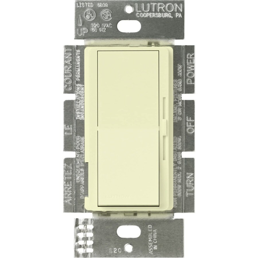 Lutron Diva 450-Watt Single Pole Almond Indoor Slide Dimmer
