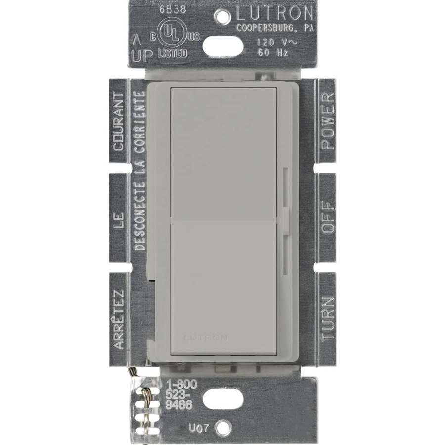 Lutron Diva 450-Watt Single Pole Gray Indoor Slide Dimmer