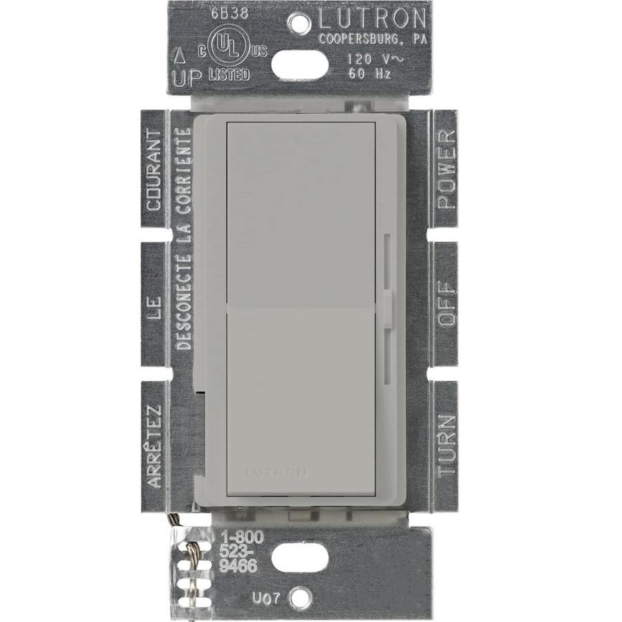 Lutron Diva 3-Speed 1.5-Amp Gray Indoor Slide Fan Control
