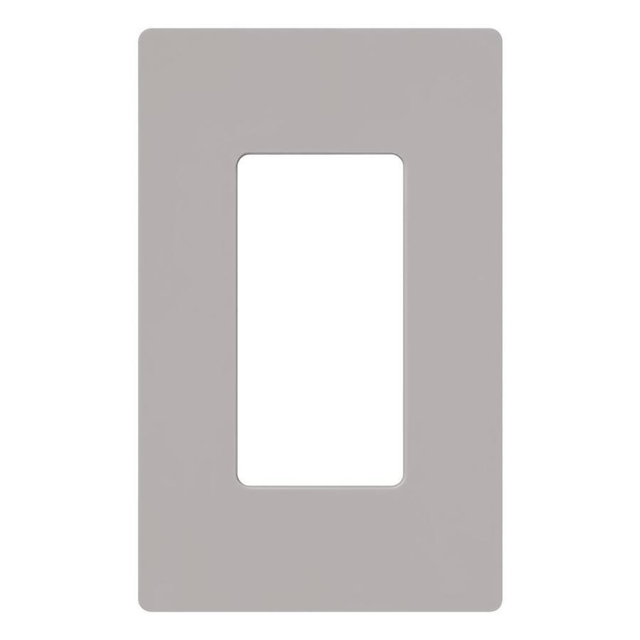 Lutron Claro 1-Gang Gray Single Decorator Wall Plate