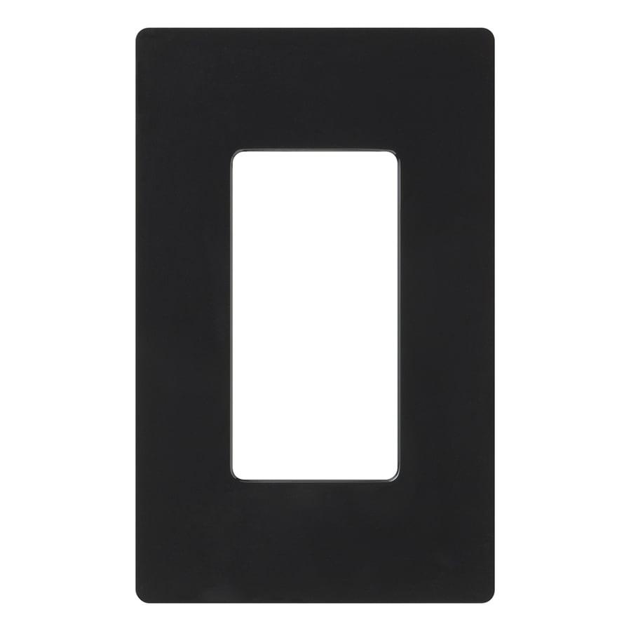 Lutron Claro 1-Gang Black Single Decorator Wall Plate
