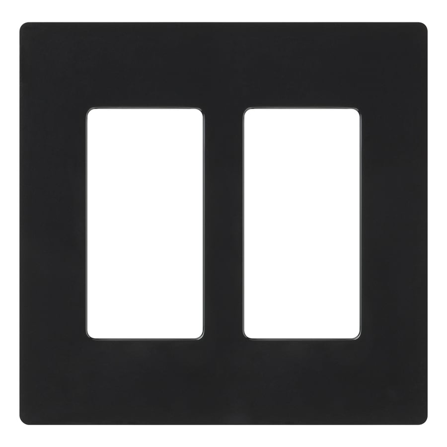 Lutron Claro 2-Gang Black Double Decorator Wall Plate