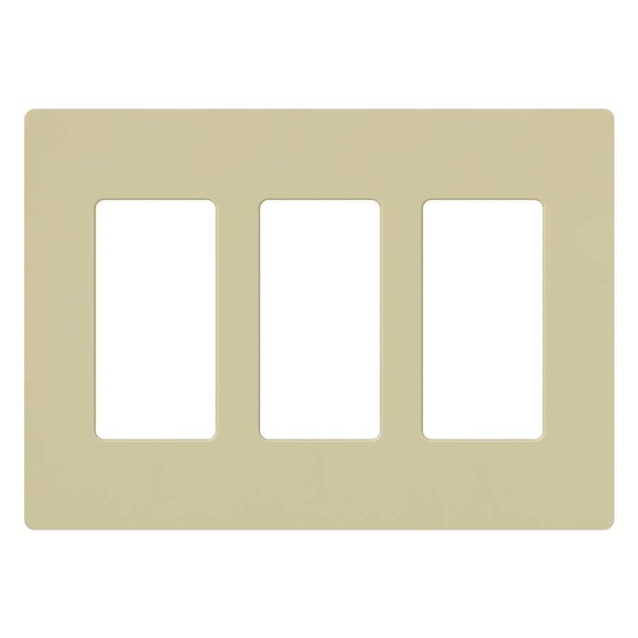 Lutron Claro 3-Gang Ivory Triple Decorator Wall Plate