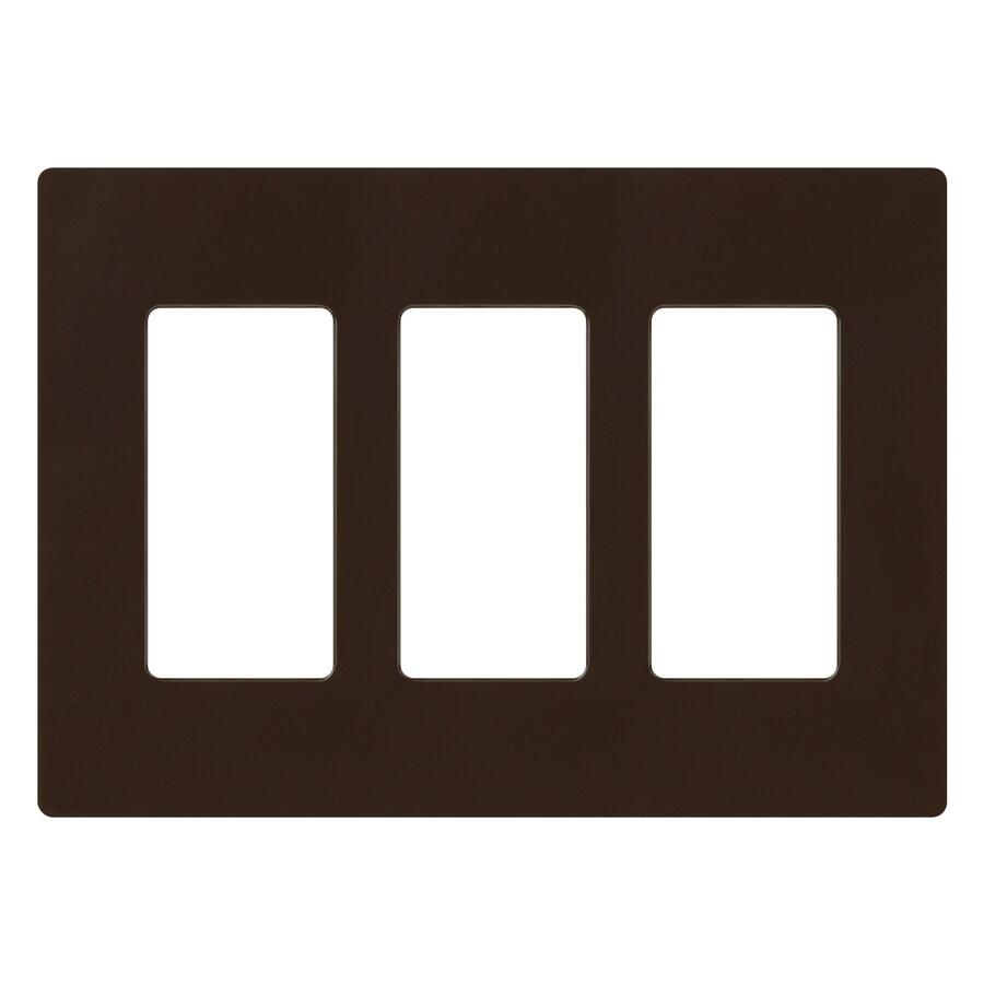 Lutron 3-Gang Brown Decorator Rocker Plastic Wall Plate