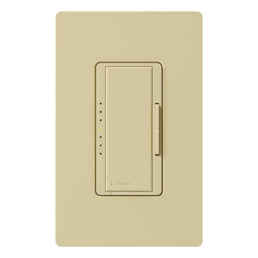 Lutron Maestro 600-Watt 3-Way 4-Way Double Pole Ivory Indoor Tap Dimmer